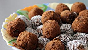 Kakaokuler med sjokolade og kokosstrø