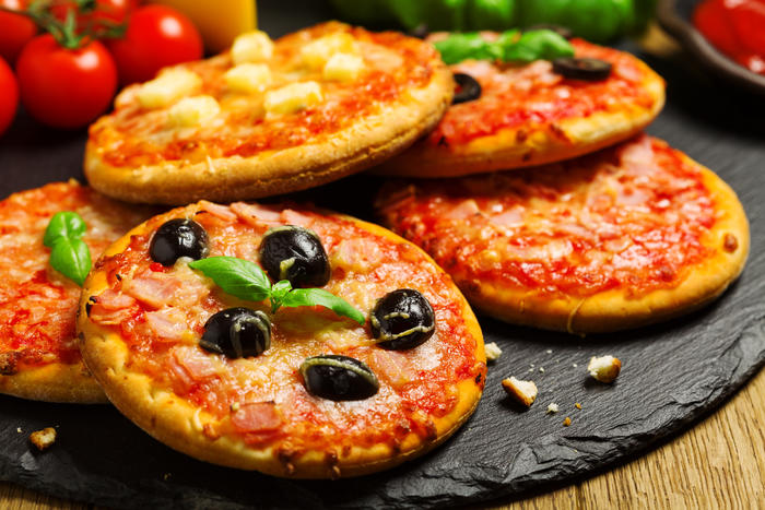 Små runde pizzaer