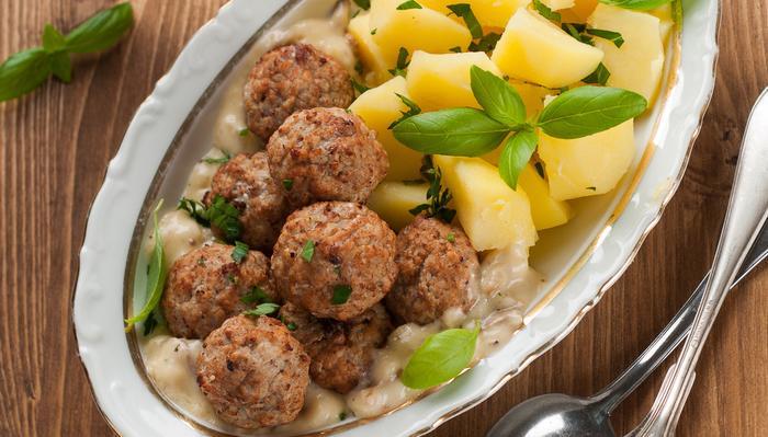 Kjøttboller med poteter
