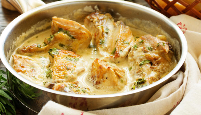 Kylling i kasserolle