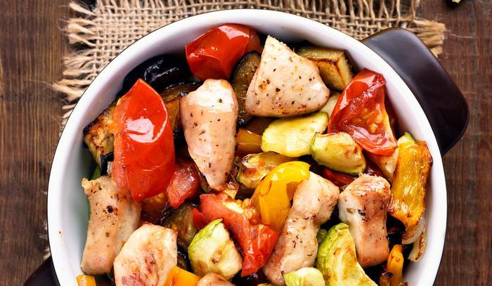 Kylling og grønnsaker