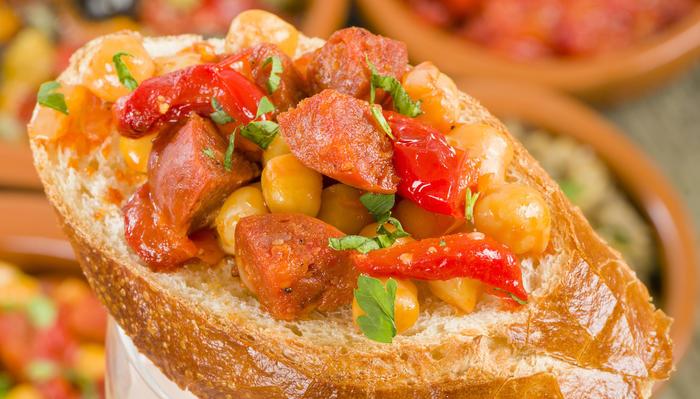 Chorizo med kikerter