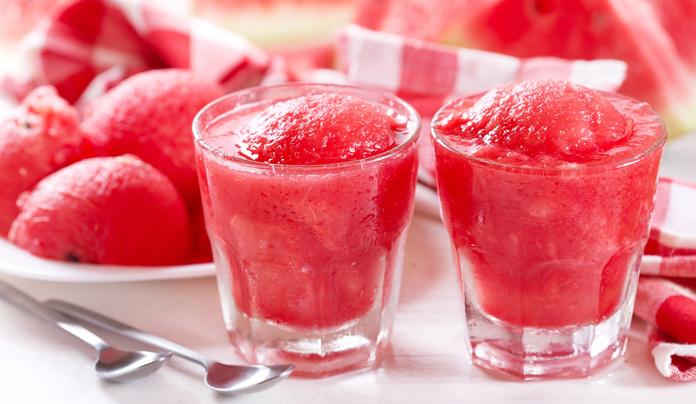 Jordbær sorbet