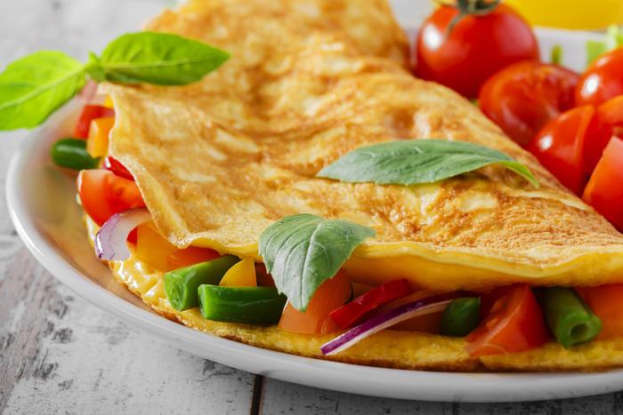Fylt omelett