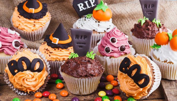 Skumle Halloweenmuffins