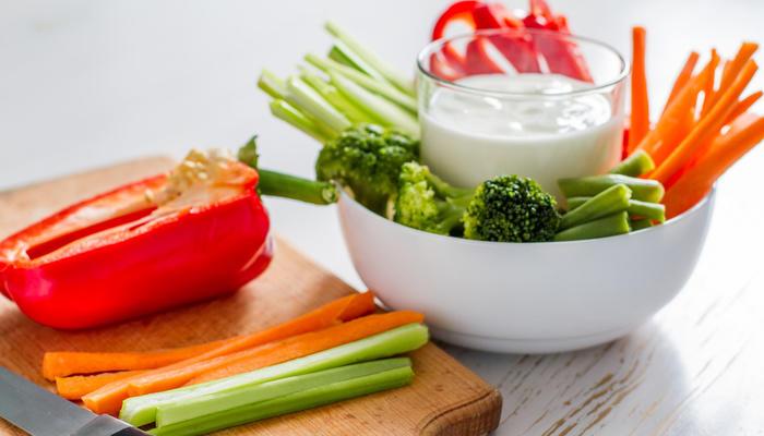 Dipp og grønnsaker