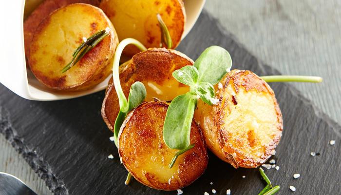 Pannestekte poteter